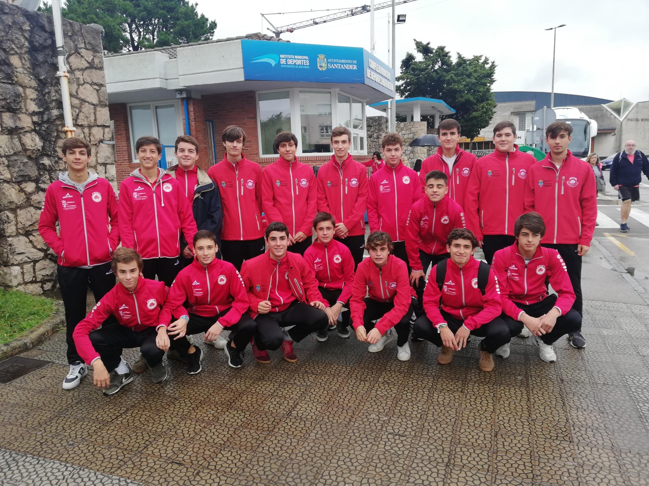 Integrantes sub18 masc antes de salir al Cto España sub18 por CCAA